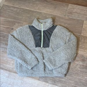 Fuzzy Quarter Zip sweater